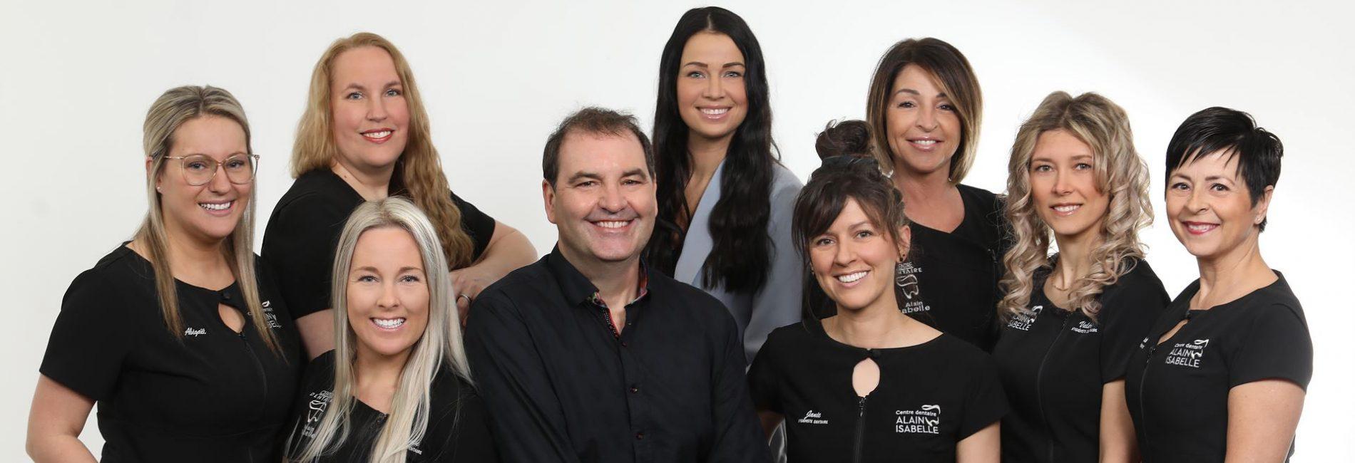 L'équipe Alain Isabelle, dentiste à Trois-Rivières